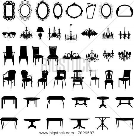 furniture silhouette set