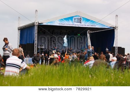 """Rock Band """"endless Stories"""" Appeares In The Open Air."""