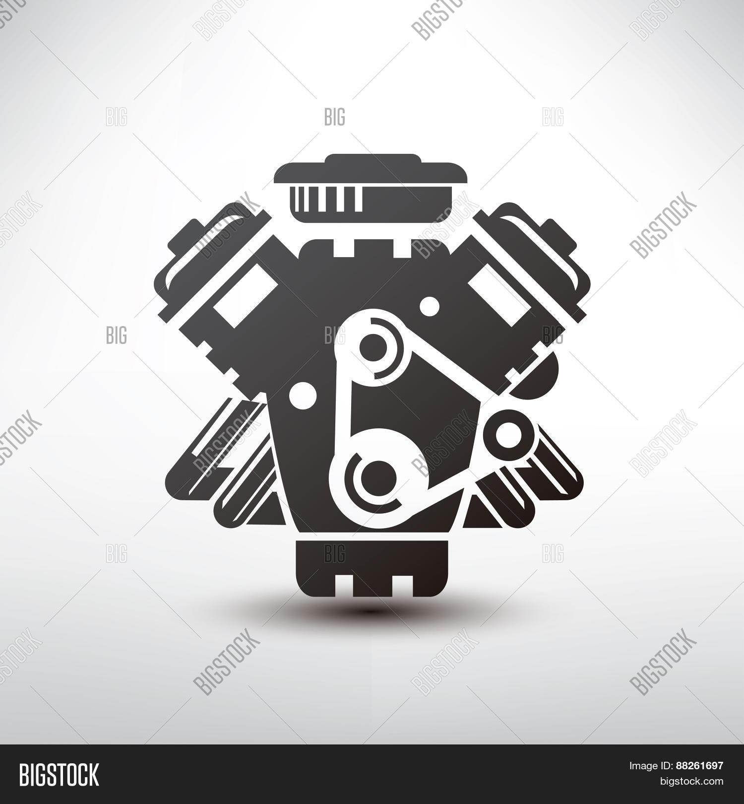 Car Engine Symbol, Vector & Photo (Free Trial) | Bigstock