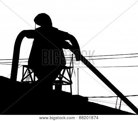 Ironman Silhouette watching Bronx