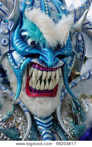Monster Mask In Carnival Of Guerra