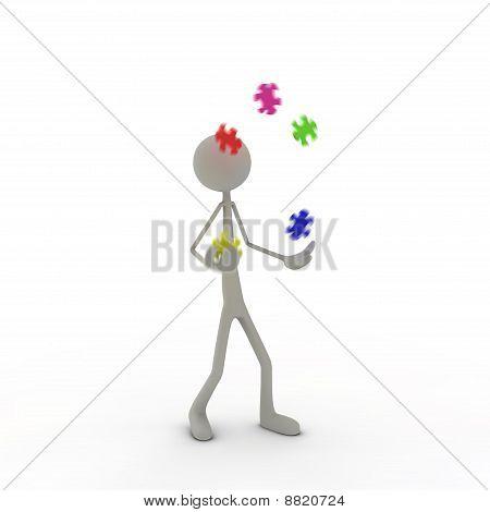 Figure juggling puzzle