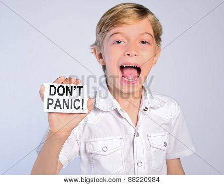 Little Boy Say Don't Panic