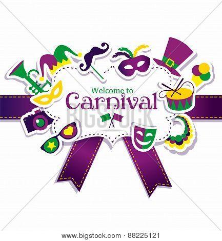 Bright vector carnival frame