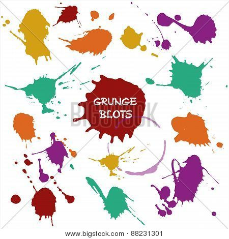 Vector illustration of color blots.