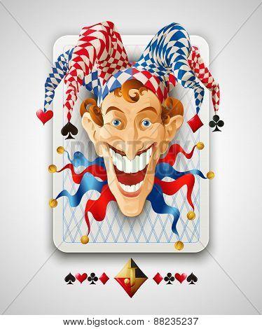Picture Jolly Joker. Vector illustration