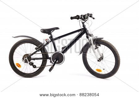 Child Bicycle On White
