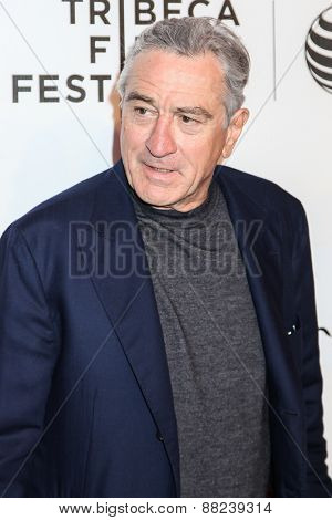 NEW YORK, NY - APRIL 16: Robert De Niro attends  for the premiere of 'Play It Forward' during the 2015 Tribeca Film Festival at BMCC Tribeca PAC on April 16, 2015 in New York City.
