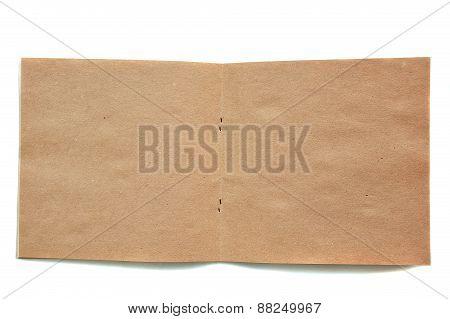 Open Brown Skatchbook