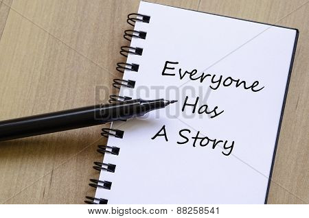Everyone Has A Story Concept