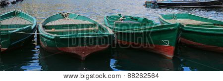 Close up Wooden boats