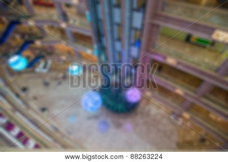 Store blur abstract background
