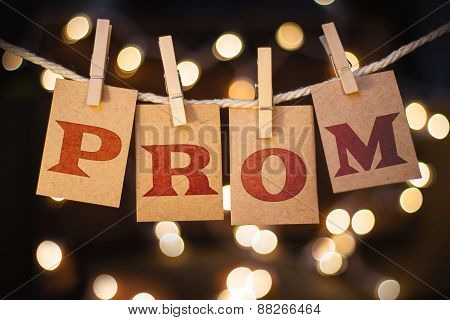 Prom Concept Clipped Cards And Lights