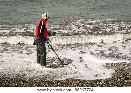 Metal Detecting Old Man