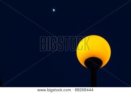 Lampost And Moon
