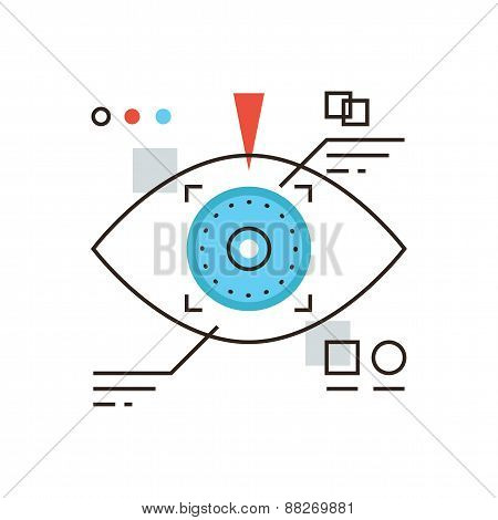 Cyber Eye Flat Line Icon Concept