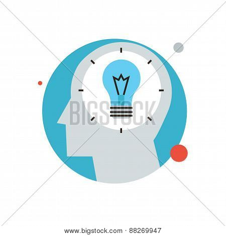 Success Idea Flat Line Icon Concept