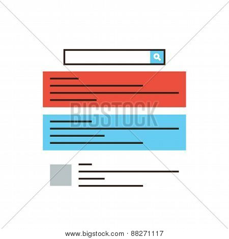 Internet Advertisement Flat Line Icon Concept