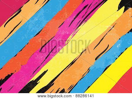 Color Paint Stripe Background