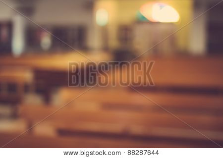 Church Interior Blur Abstract Background