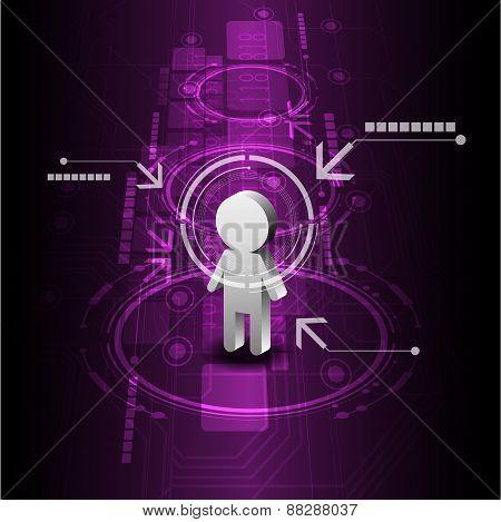 Human Digital Future Technology Background