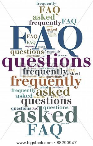 FAQ. Frequently asked questions. Internet helpdesk concept. poster