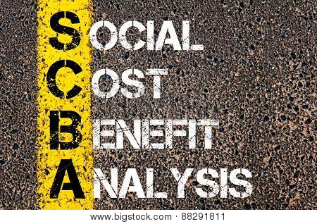 Business Acronym Scba As Social Cost Benefit Analysis