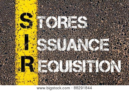 Business Acronym Sir As Stores Issuance Requisition