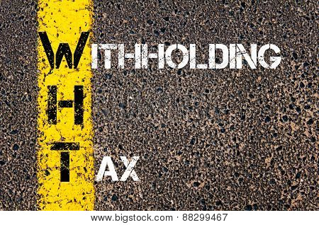 Business Acronym Wht As Withholding Tax