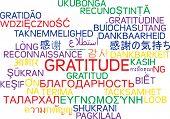 Background concept wordcloud multilanguage international many language illustration of gratitude poster