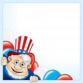 Uncle Sam background for your text or design poster