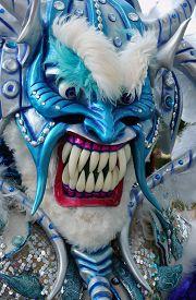Monster Mask In Carnival Of Guerra