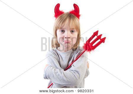 Child Naughty Devil Halloween