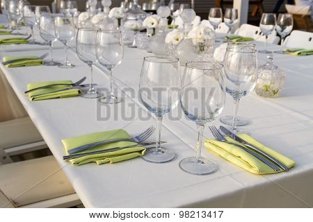 Festively Decorated Table .