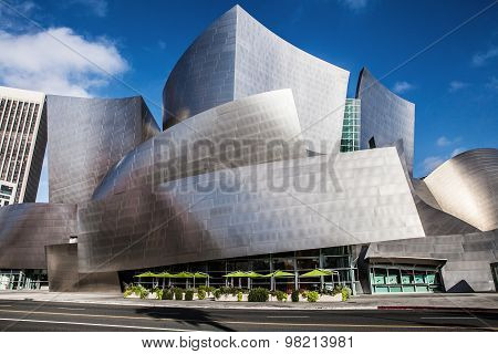 LOS ANGELES - JULY 26: Walt Disney Concert Hall in downtown Los Angeles on July 26, 2015  design by