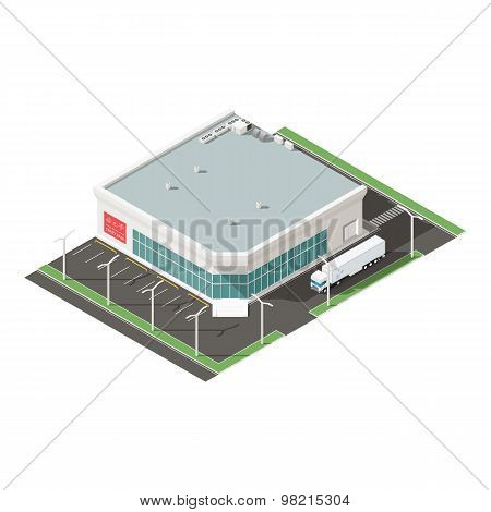 Supermarket Isometric Isons Set