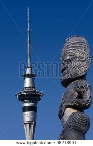 AUCKLAND, NEW ZEALAND - MAY 27: Auckland Sky Tower on May 27 2013. The tower attracts an average of 1450 visitors per day (over 500000 per year).