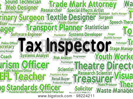 Tax Inspector Means Taxpayer Supervisor And Hire