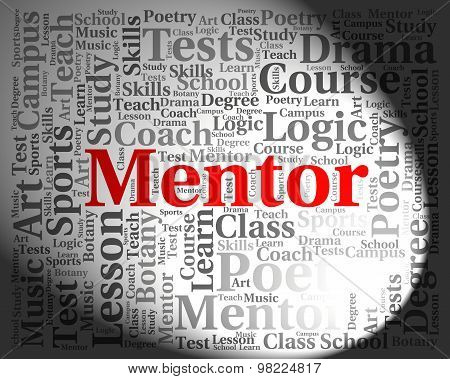 Mentor Word Indicates Words Advisers And Confidants