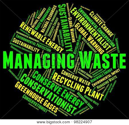 Waste Management Means Process Word And Collection