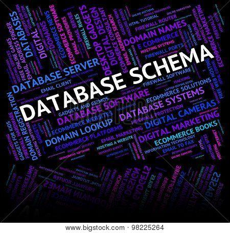 Database Schema Indicates Schemas Charts And Word