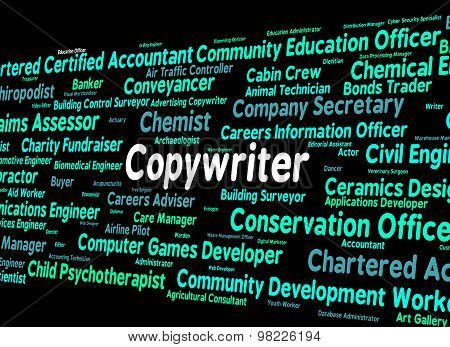 Copywriter Job Indicates Employment Copywriters And Recruitment
