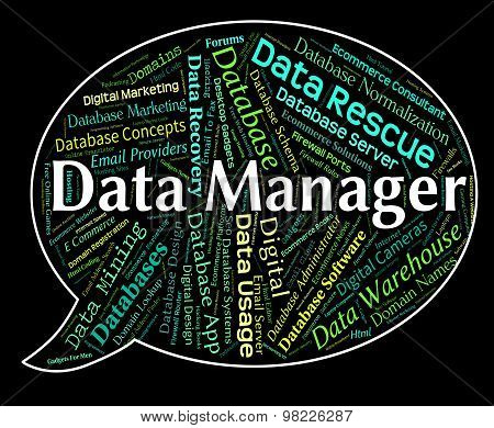 Data Manager Indicates Overseer Facts And Proprietor