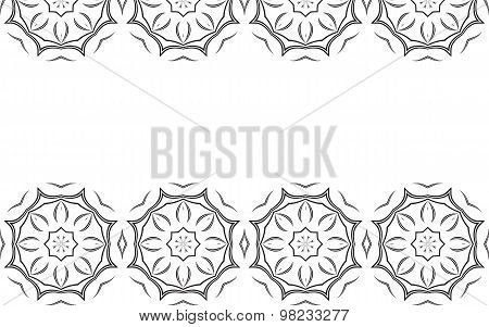 Monochrome Background With Abstract Elements