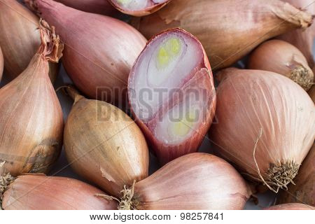shallots filling the picture