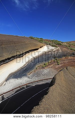 Road To Teide Volcano. Canary Islands, Tenerife.