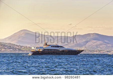 Luxury Yacht In Saint Tropez Harbor