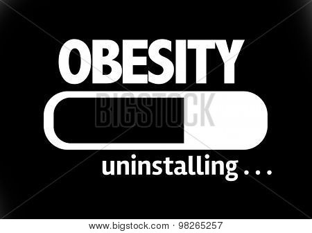 Progress Bar Uninstalling with the text: Obesity