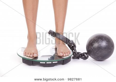Skalen Kette Füße