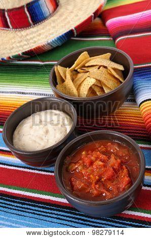 Nachos With Salsa Dip